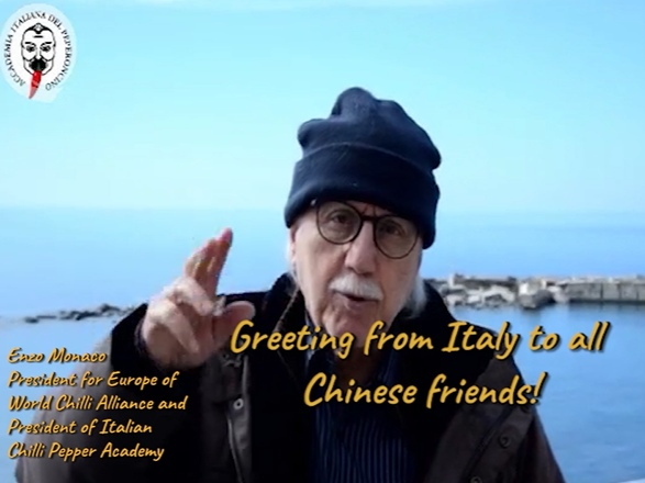 The President for Europe of World Chilli Alliance, Enzo Monaco, supports China in its battle against the novel Coronavirus Covid-2019